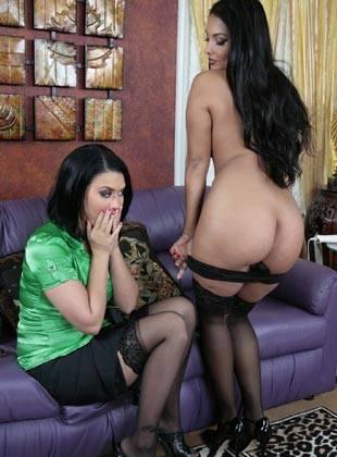 Brunette angelina valentino fucks a big black monster cock - 3 part 1