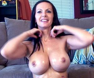 Busty Catalina Cruz oiled up big tits live on cam
