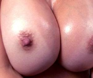 Catalina Cruz busty big tits all oiled up live
