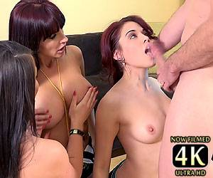 Onyx Muse blowjob face fucking Catalina Cruz