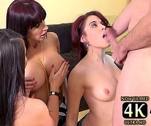 Onyx Muse blowjob face fucking Catalina Cruz