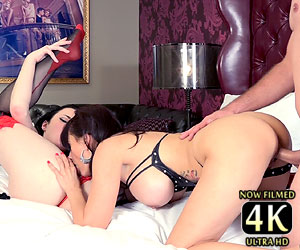Veruca James shares cock Catalina Cruz 4k