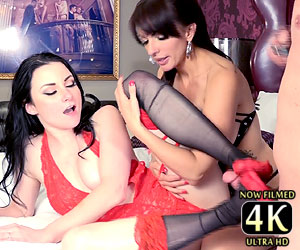 Veruca James footjob threesome Catalina Cruz 4k