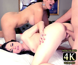 Veruca James kinky threesome fucking Catalina Cruz