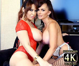 Alyssa Lynn sucking on big tits Catalina Cruz 4k