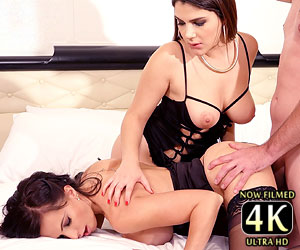 Catalina Cruz 4k live cam show with Valentina Nappi fucking 1 lucky cock