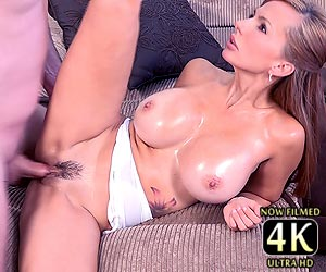 Catalina Cruz oiled bubble butt slammed with a hard cock live