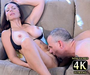 Catalina Cruz in black bikini getting her pussy licked and fingered