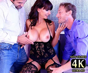 Catalina Cruz 4k threesome with 2 cocks for first time