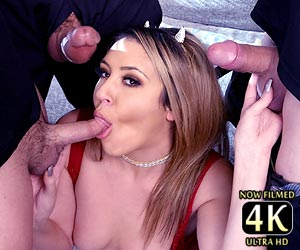 Kylie Kalvetti big cock blowbang for the first time Catalina Cruz