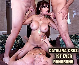 Catalina Cruz big cock gangbang for the very first time live