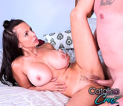 Catalina Cruz punished with a hard dick live on home webcam