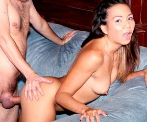 Asian babe Keeani Lei fucking the teacher