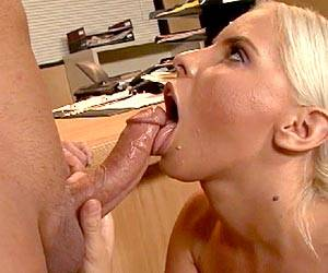 Brandy Aniston naked sucking a hard cock