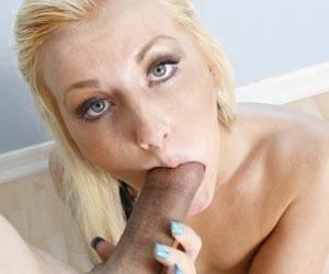 New comer Nikki Blake sucking a dick