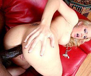 Heidi Mayne black cock slamming her wet pussy
