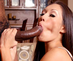 Dawn Ivy pov blowjob on a huge piece of black meat