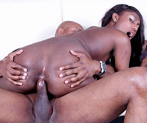 Faith Love xxx anal sex with a huge black cock on a couch