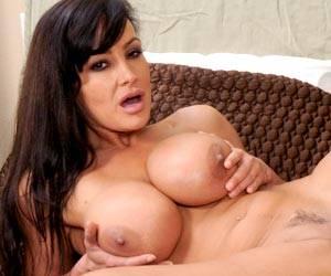 Julia Ann sucking on a big set of tits