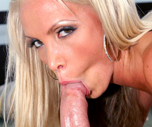 Nikki Benz knows how to deepthroat a monster cock