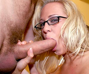 Carla Cox throat fucked with a big cock on her knees