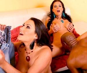 Charley Chase interracial orgy blowjob fun