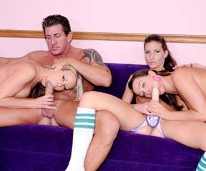 Ariel X foursome with Carolyn Reese big cock