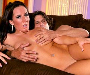 Richelle Ryan fucks a big dick on couch