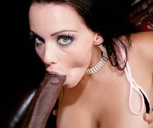 Busty Natasha Nice sucking a black cock
