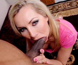 Lisa Demarco interracial blowjob black cock