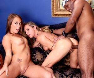 Haley Sweet fucking black cock Amanda Blow