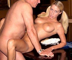 Teen Cassie Young fucking an old mans cock