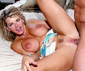 Cougar Vicky Vette fucking a big cock well