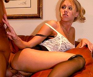 Katie Morgan gets fucked at work in office