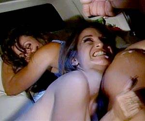 Lisa Ann facial in a limo with Jacklyn Lick
