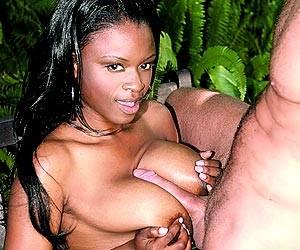 Busty Lola Lane titty fucking a big white dick