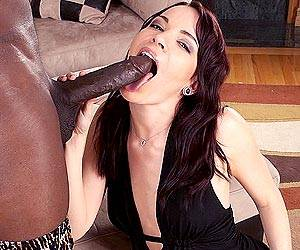 Dana DeArmond interracial big cock blowjob