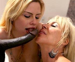 Tara Lynn Foxx sucks black cock Erica Lauren
