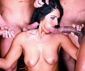 Patricia blowbang orgy with 5 dicks