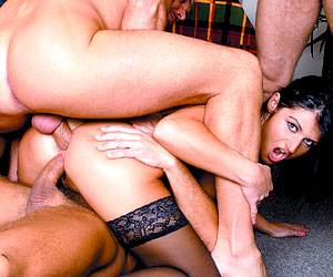 Patricia fucking group of big dicks anal sex