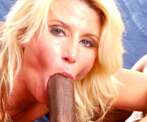 Summer Storm face fucking a big black dick