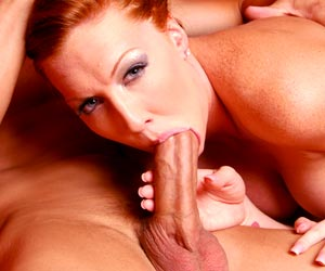 Hot redhead Morgan Reigns loves a big dick pov