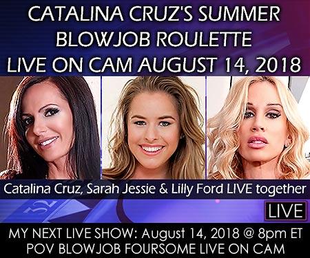 August 14, 2018 @ 8pm ET - POV BLOWJOB FOURSOME Live Cam Show + Chat