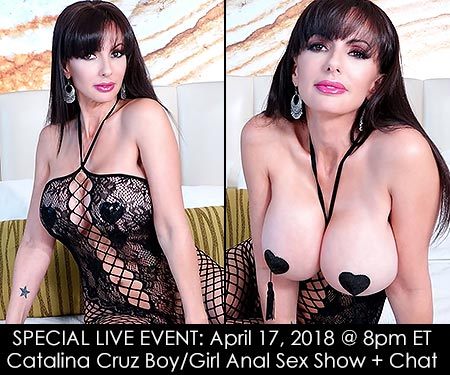 April 18, 2018 - 7pm ET - Next LIVE Cam Show - Catalina Cruz Boy/Girl POV Sex Show + Chat