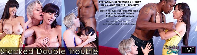 Dee Williams with Catalina Cruz live threesome